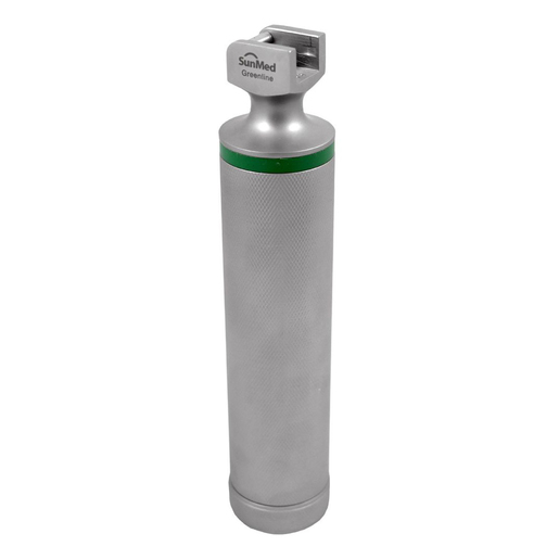 Laryngoscope Handle, GreenLine, Fiber Optic, Medium, Stainless Steel, Uses 2 C Batteries