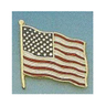 Uniform Service Pin, 3/8in x 1-3/4in, American Flag