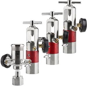 Oxygen Regulators, Brass Core, 0-25lpm, Barb Outlet, Left