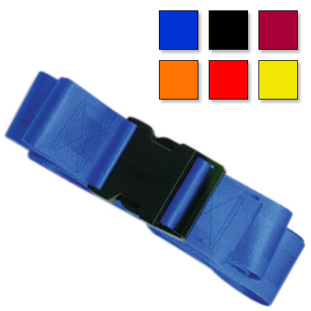 Plastic Side Release Buckle Two Piece w/Loop End Straps