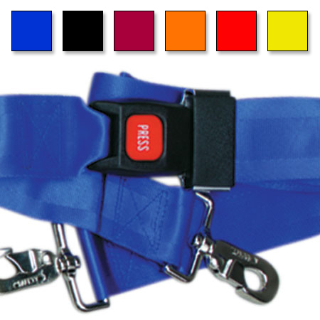 Metal Push Button Buckle Two Piece w/Swivel Speed Clip Strap