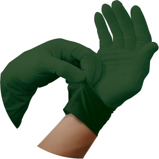 Defender™ T Nitrile Gloves, Olive Drab, 12in