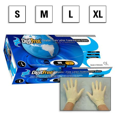 DigitFree™ Powder-Free Latex Exam Gloves