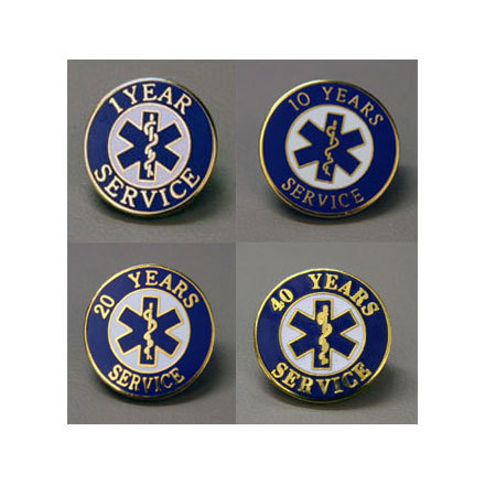 Uniform Pins, Years of EMS Service