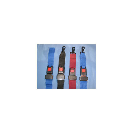 Stretcher Straps, 2 Piece, Metal Push Button