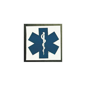 Star of Life Square Decals