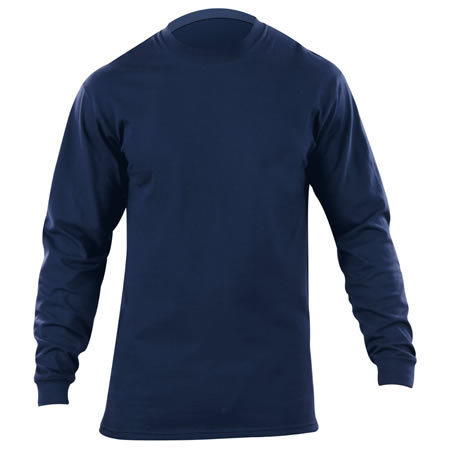5.11 Men's Station Wear T-Shirts, Long Sleeve, Fire Navy