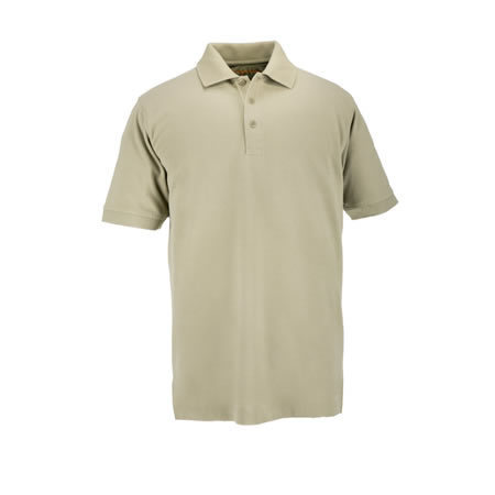 5.11® Men's Professional Short Sleeve Polo, Silver Tan