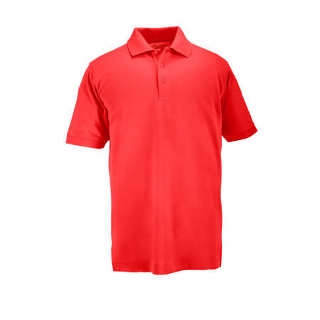 5.11 Men's Professional Polo Shirts, Short Sleeve, Range Red
