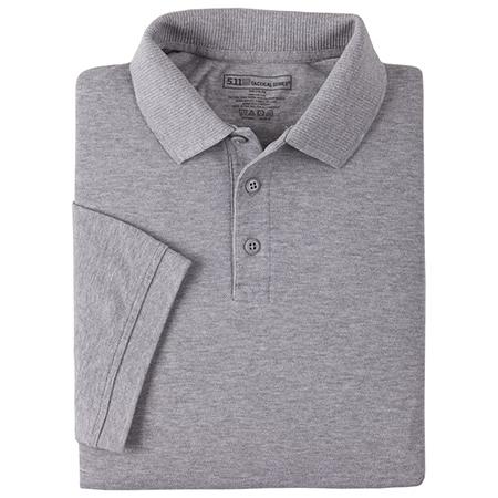 5.11 Men's Professional Polo Shirts, Short Sleeve, Tall, Heather Gray