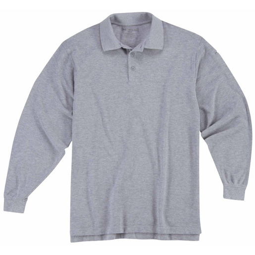 5.11 Men's Professional Polo Shirts, Long Sleeve, Heather Gray