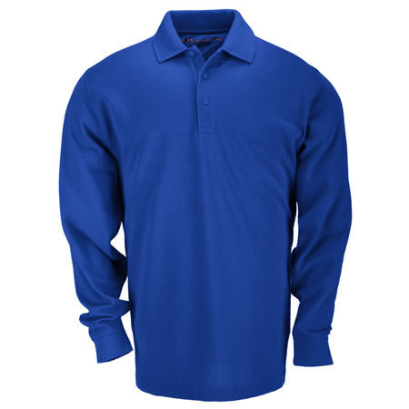 5.11 Men's Professional Polo Shirts, Long Sleeve, Academy Blue