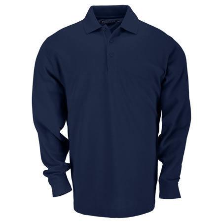 5.11 Men's Professional Polo Shirts, Long Sleeve, Dark Navy