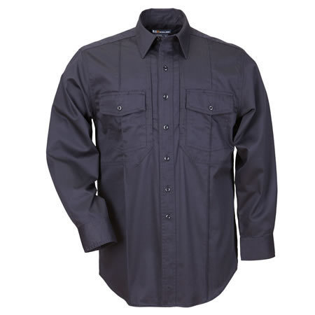 5.11 Men's B-Class Station Shirts, Long Sleeve, Fire Navy