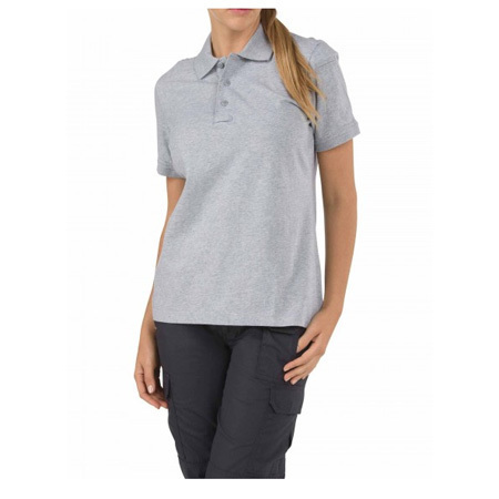 5.11 Women's Tactical Polo Shirts, Short Sleeve, Gray