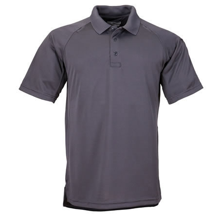 5.11 Men's Performance Polo Shirts, Short Sleeve, Charcoal