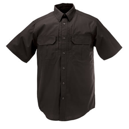 5.11 Men's Taclite Pro Shirts, Short Sleeve, Black