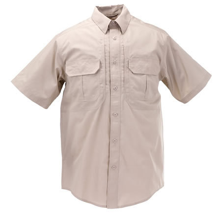 5.11 Men's Taclite Pro Shirts, Short Sleeve, TDU Khaki