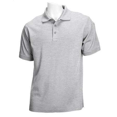 5.11 Men's Tactical Polo Shirts, Short Sleeve, Heather Grey