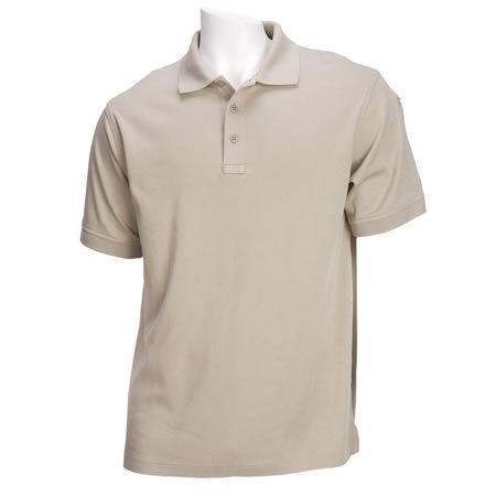 5.11 Men's Tactical Polo Shirts, Short Sleeve, Silver Tan