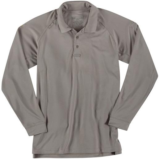 5.11 Men's Performance Polo Shirts, Long Sleeve, Silver Tan