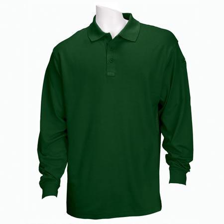 5.11 Men's Performance Polo Shirts, Long Sleeve, LE Green