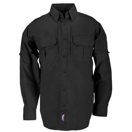 5.11 Men's Tactical Shirts, Long Sleeve, Black