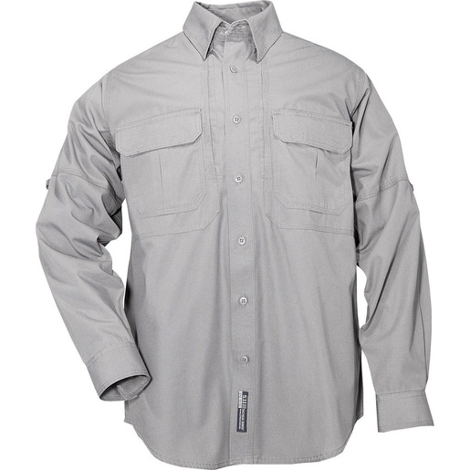 5.11 Men's Tactical Shirts, Long Sleeve, Grey