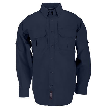 5.11 Men's Tactical Shirts, Long Sleeve, Fire Navy