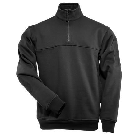 5.11 Men's 1/4 Zip Job Shirts, Black