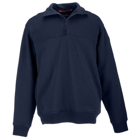 5.11 Men's 1/4 Zip Job Shirts, Fire Navy