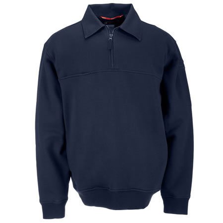 5.11 Men's Job Shirts w/Canvas Details, Fire Navy