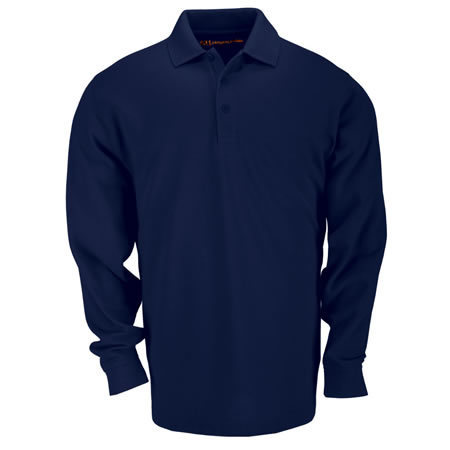 5.11 Men's Tactical Polo Shirts, Long Sleeve, Dark Navy