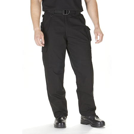 5.11 Men's Cotton Tactical Pants, Unhemmed, Black