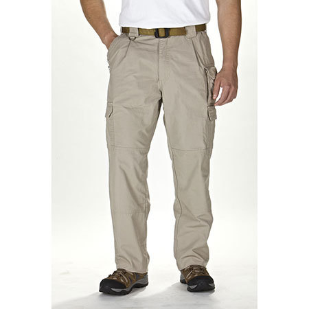 5.11 Men's Cotton Tactical Pants, Unhemmed, Khaki