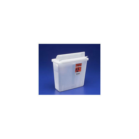 SharpSafety In-Room Sharps Containers with Mailbox-Style Lid