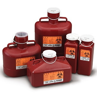 Non-Stackable Sharps Containers