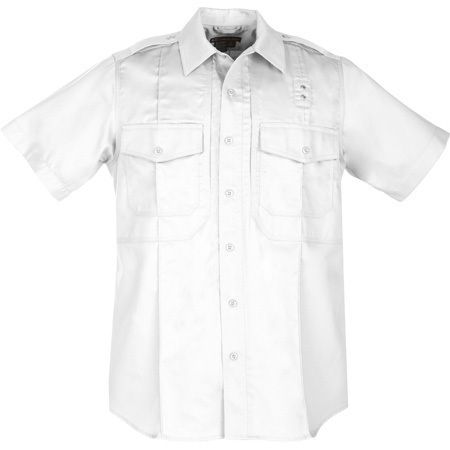 5.11 Men PDU Twill Class B Shirt, Short Sleeve, White