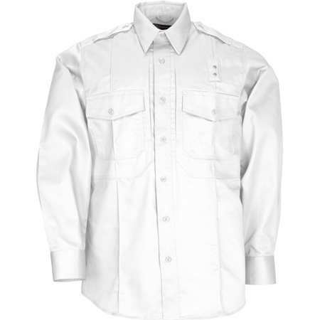 5.11 Men PDU Twill Class B Shirt, Long Sleeve, White
