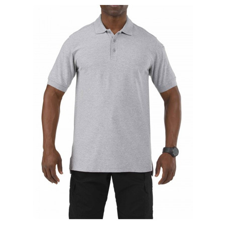 5.11 Utility Polo Shirt, Short Sleeve, Heather Gray