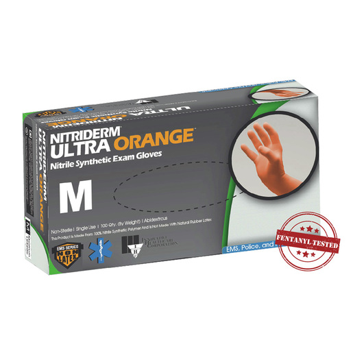 NitriDerm® Ultra Orange™, Nitrile Exam Gloves, Powder Free