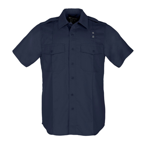 5.11 Men PDU Twill Class A Short Sleeve Shirt, Midnight Navy
