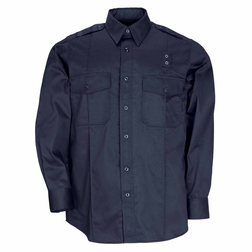 5.11 Men PDU Twill Class A Long Sleeve Shirt, Midnight Navy