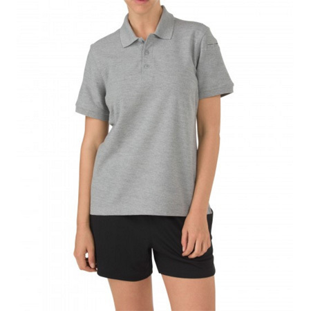 5.11 Women's Shirt, Utility Polo, Short Sleeve, Heather Gray