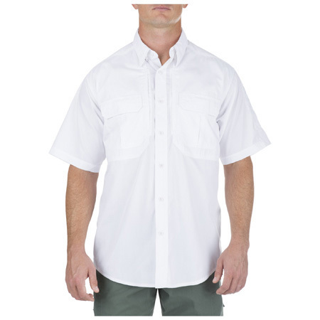 5.11 Men's Taclite Pro Shirts, Short Sleeve, White