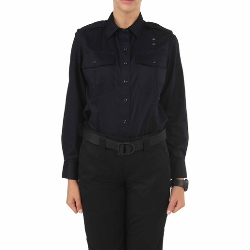 5.11 Women's PDU Class A Long Sleeve Shirt, Midnight Navy