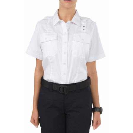 5.11 Women's Twill PDU Class A, Short Sleeve Shirt, White