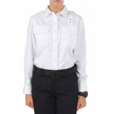 5.11 Women's Twill PDU Class A Long Sleeve Shirt, White
