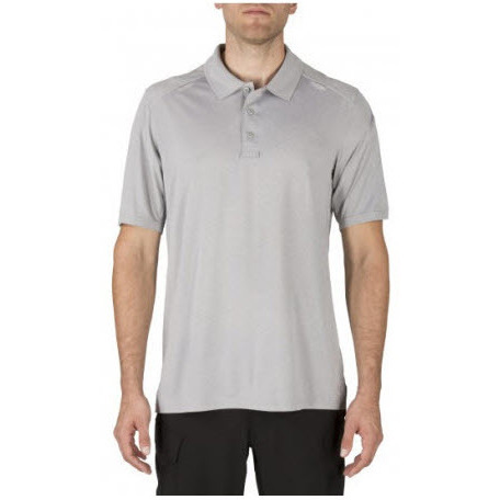 5.11 Men's Helios Short Sleeve Polo Shirt, Heather Grey