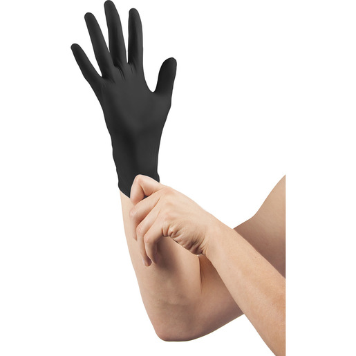 Curaplex® TritonGrip TE™ Gloves, Black Nitrile